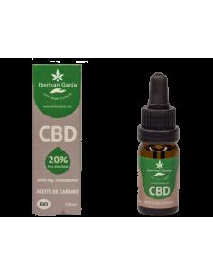Iberikan Ganja Aceite CBD 20% con aceite de semilla de cañamo (10ml)