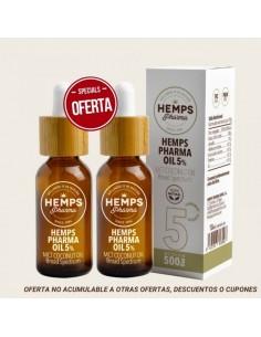 Hemps pharma Duo x2 HEMPS PHARMA OIL 5% CBD