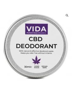 Pura Vida Organic CBD Crema desodorante 30ml (300mg / 1% CBD)