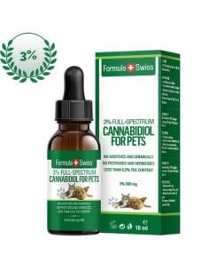 Formula Swiss Gotas de Aceite de CBD en Aceite de Oliva de 3-5% (300-500 mg) para mascotas